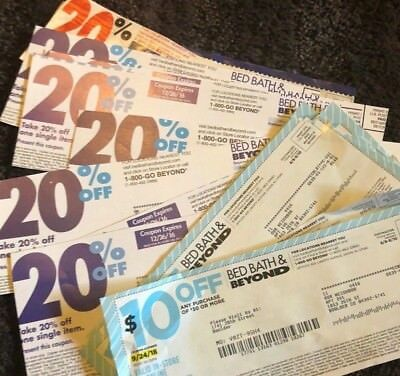 TWELVE BED BATH AND BEYOND COUPONS $10 off $30 & 20% OFF/IN-STORE AND ONLINE