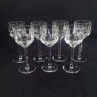 7 Heavy Crystal Wine Glasses Stemware