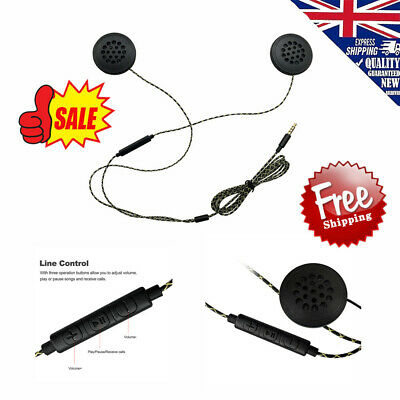 Motorcycle Helmet Interphone Headphone Speaker Headset w/MIC for MP3 iPod W8O0
