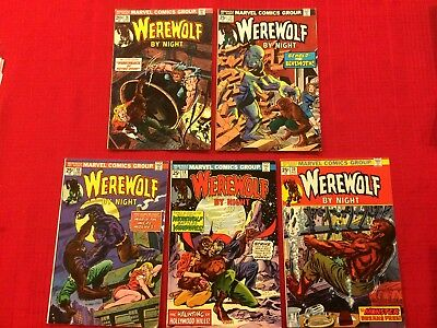 Werewolf by Night #16 - 20 (Marvel Comics 1973) Mike Ploog Don Perlin, Dracula