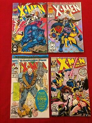X-MEN #294, 300, Jim Lee X-MEN #1, X-MEN ADVENTURES #1 (Marvel Comics 1991 - 93)