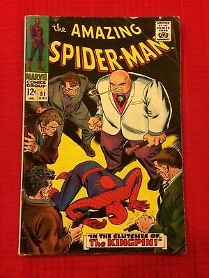 AMAZING SPIDER-MAN #51 (Marvel Comics 1967) 2ND KINGPIN, STAN LEE & JOHN ROMITA