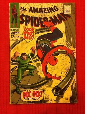 AMAZING SPIDER-MAN #53 (Marvel Comics 1967) Doc Ock, STAN LEE & JOHN ROMITA