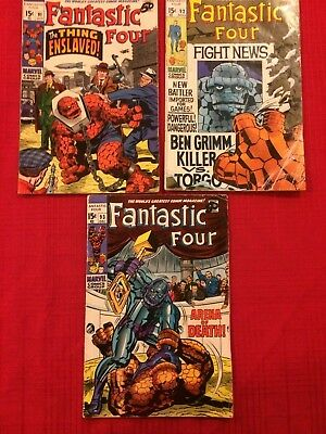 FANTASTIC FOUR #91, 92, 93 (Marvel Comics 1969) STAN LEE & JACK KIRBY 1st Kree