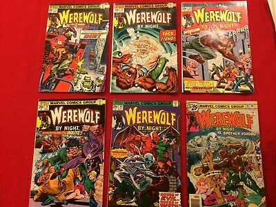 Werewolf by Night #21 - 24, 34, 39 (Marvel Comics 1973) Don Perlin, 1st Br Voodo