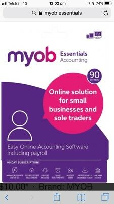 MYOB Accountright Essentials with Payroll 90 Days Trial Version- Email License