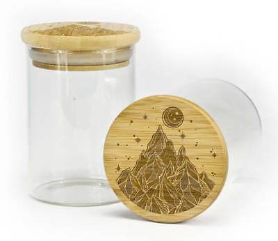 Glass Stash Jar Airtight Container Smell Proof keeps Herb & Spice Fresh 4 months