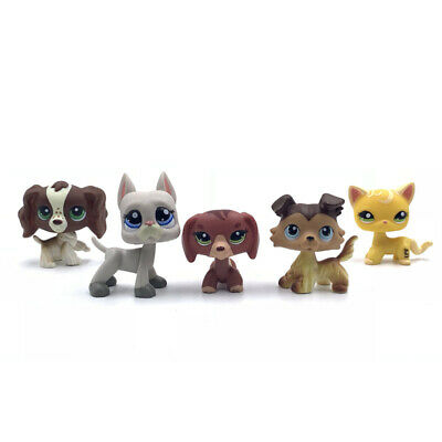 5Pcs/bag littlest pet shop toys old lps toy playset with short hair cat and dogs