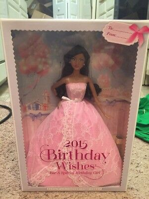 Barbie 2015 Birthday Wishes African American Doll New