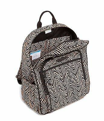 Vera Bradley Campus Backpack Lunch Bunch & Campus Double ID Zebra Lot School NWT