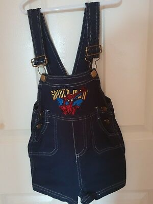Toddler Boys size 2 Trendy Summer Spider Man Overalls All in One