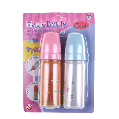 2pcs Doll accessories Milk bottles vary Magic Toys for girl gift HU