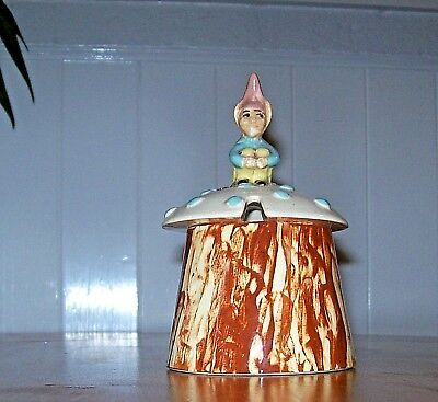 Vintage Babbacombe Pottery,Elf/Pixie Preserve Pot,Hand Made & Painted in England