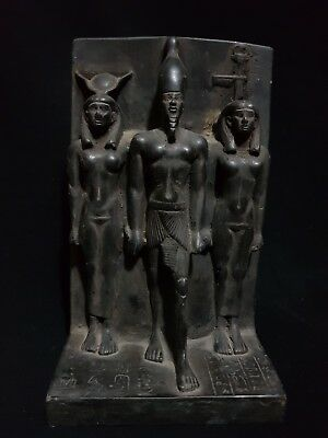 Rare Ancient Egyptian Antique Statue Of Orisis And Nephthys And Isis 1375 Bc