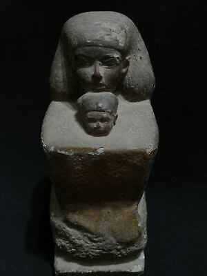 Ancient  Egyptian Antique Statue Of Senenmut With Neferure Head 1507-1458 Bc