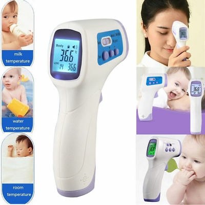 Non Contact Forehead Infrared Medical Digital Thermometer White for Body