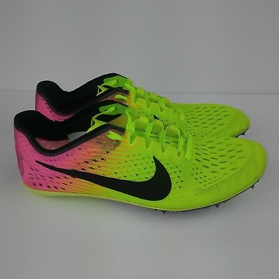 NIKE Zoom Victory Elite 2 Track Running Spikes Shoes Volt Men's Size 4