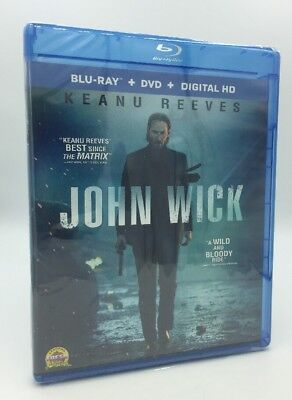 John Wick (Blu-ray+DVD+Digital HD, 2015; 2-Disc Set) NEW