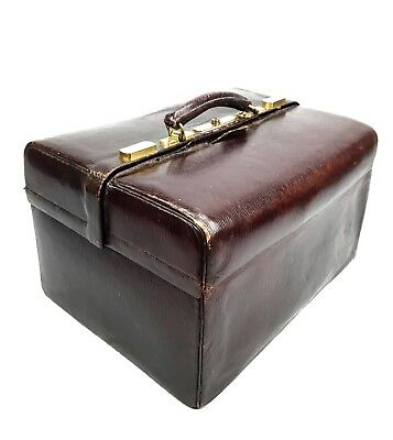 Antique Doctors Bag / Leather And Brass / London Maker Williams /  Apothecary