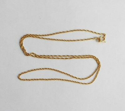 """14K Yellow Gold Rope Chain Ladies 18"""" Solid Gold Necklace"""
