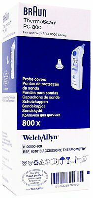 Welch Allyn Braun ThermoScan Pro 6000/4000  Probe Covers (06000-800) Case Of 800