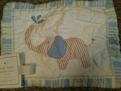 New Pottery Barn Kids ELEPHANT Jungle Friends Small SHAM 12x16