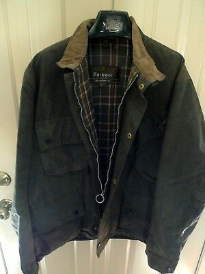 Barbour- A7 International Suit  Waxed Cotton Jacket-Vintage & Rare-Made @uk-42