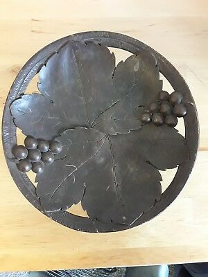 Antique / Vintage ~ Black Forest ~ Hand Carved ~  Musical Fruit Bowl