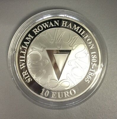 Irland 10 € 2005 in PP 925er Silber, 200. Geburtstag Sir William Rowan Hamilton