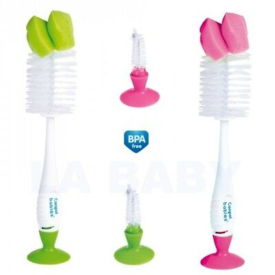 Bottle and teat Brush 2in1 with suction ring Canpol Babies