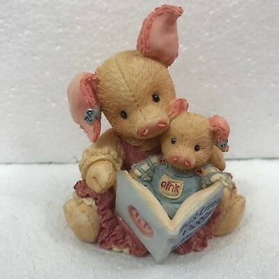 Enesco This Little Piggy Figurine TLP 124575 Mother Pig Reading Book to Piglet