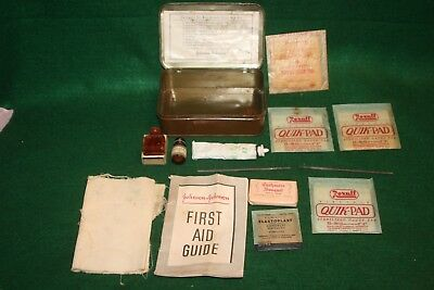 Vintage Boy Scouts of America Official First Aid Kit ~Johnson & Johnson Inv#V02
