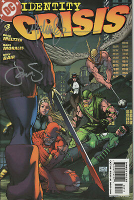 IDENTITY CRISIS #3 2004 NM/M SIGNED 2x BY MICHAEL TURNER & PETER STEIGERWALD DC
