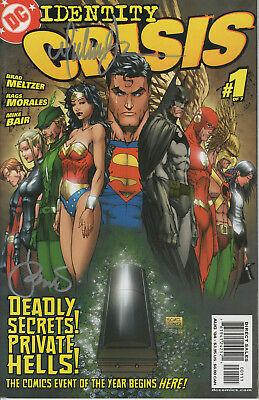 IDENTITY CRISIS #1 2004 NM/M SIGNED 2x BY MICHAEL TURNER & PETER STEIGERWALD DC