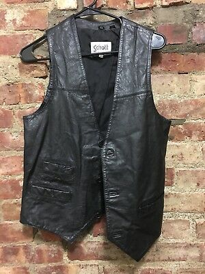 1970's Vintage Schott Men's Leather Vest