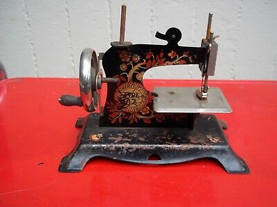 Antique Miniture Sewing Machine Germany stamed Schurhoff Type 47