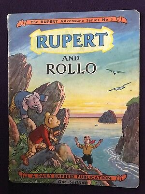 1949 THE RUPERT ADVENTURE SERIES no.3 - RUPERT And ROLLO Soft Cover Mag Comic