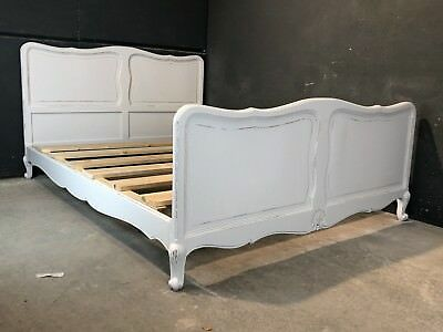 Vintage French King size bed/ Painted French bed (VB152)