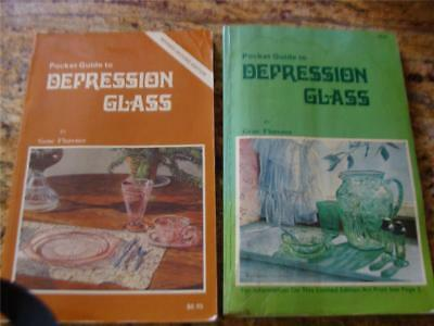 2 Depression Glass Books  Gene Florence Pocket Guides 1St & Revised 2Nd Editions