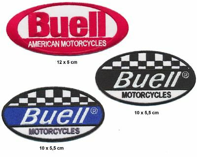 BUELL MOTORCYCLES Aufnäher Aufbügler Patches 3 Stück Motorrad Ulysses Cyclone