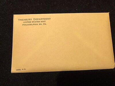 1963 Silver Proof Coin Set United States Mint IN ORIGINAL MINT SEALED ENVELOPE