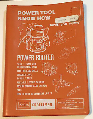 Vintage Sears Craftsman Power Router Users Guide 1982 FREE SHIPPING