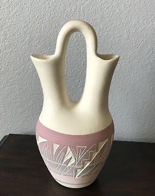 Vintage Pottery Navajo Native American Wedding Vase Signed Padilla