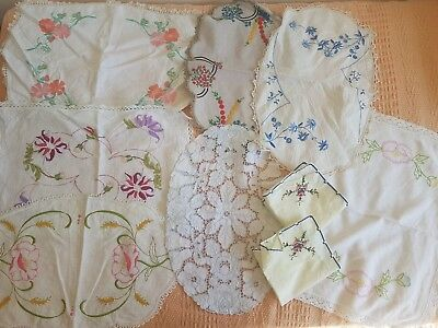 Bulk large embroidered doilies