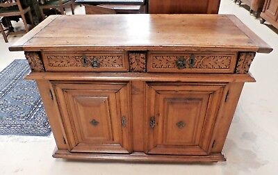 """18th century French Carved Walnut Cabinet Sideboard W 46.5"""" Over 200 years old!"""
