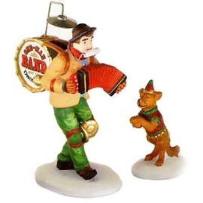 Dept 56 ONE-MAN BAND AND THE DANCING DOG #58891 NRFB Christmas In The City *