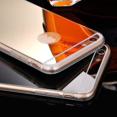 Clear Soft Gel Case Mirror Cover Skin For iPhone 4S 5S 6/6Plus 7/7Plus 8/8Plus