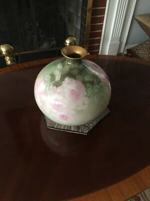 Extremely Rare 1800s LYCETT Limoges France VASE - Signed!