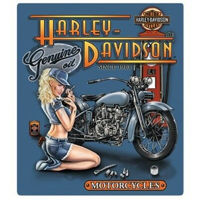 "Harley Davidson Mechanic Babe Die-Cut Embossed Metal Sign 13 x 15"" NEW"