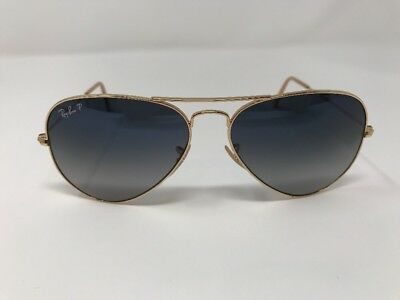 5f82e440f2c79 Ray Ban RB 3025 001 78 58mm Large Aviator Gold Blue Fade Lens Sunglasses  Z898